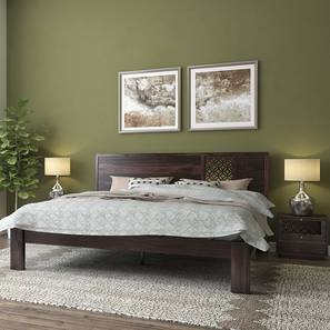 Alaca Bed (Mahogany Finish, Queen Bed Size)