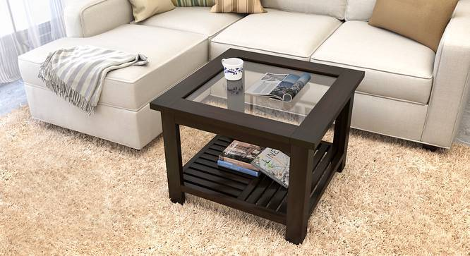 Claire Coffee Table (Mahogany Finish, Compact Size) by Urban Ladder