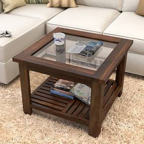 Claire Coffee Table Teak Finish Compact Size
