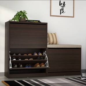 Pointe L Shaped Shoe Cabinet Darkwalnut 00 Lp