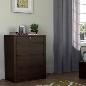 Barrie Chest of Drawers (Dark Oak Finish, 4 Drawer Configuration)