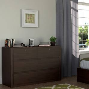 Barrie Large Chest of Drawers (Dark Oak Finish, 6 Drawer Configuration)