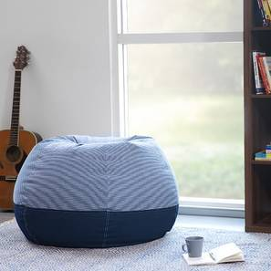 Baggo Stripes Blue Beanbag (Blue, Standard Size, Without Beans Variant)