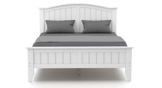 Wichita Bed (Queen Bed Size, White Finish) by Urban Ladder