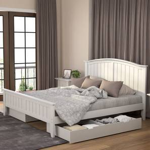 Wichita Storage Bed (King Bed Size, White Finish) by Urban Ladder