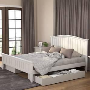 Wichita Storage Bed (King Bed Size, White Finish)