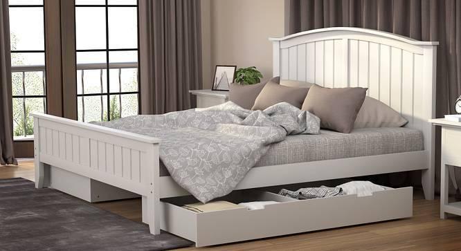 Wichita Storage Bed (King Bed Size, White Finish) by Urban Ladder