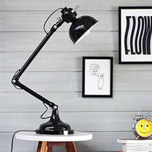 Lasseter Study Lamp (Black Base Finish, Black Shade Color, Conical Shade Shape)