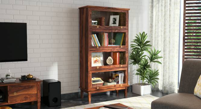 Malabar Barrister Bookshelf (Teak Finish) by Urban Ladder