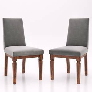 Malabar Dining Chairs Set Of 2 (Teak Finish, Smoke) by Urban Ladder