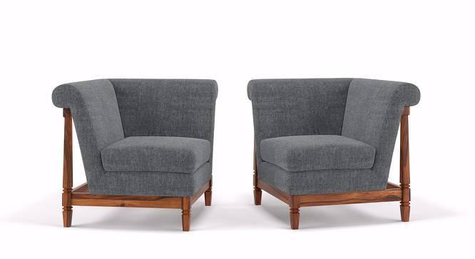 Malabar Wooden Sofa Standard Set 1-1 (Smoke) by Urban Ladder