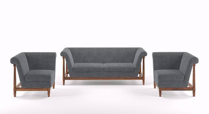Malabar Wooden Sofa Standard Set 3-1-1 (Smoke) by Urban Ladder