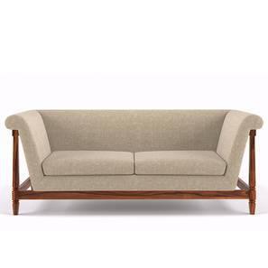 Malabar Wooden Sofa Three Seater (Teak Finish, Macadamia Brown) by Urban Ladder