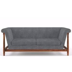 Malabar Wooden Sofa Three Seater (Teak Finish, Smoke)