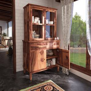 Malabar Crockery Unit (Teak Finish)