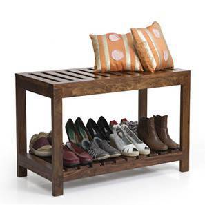 Marco Entryway Bench (Teak Finish) by Urban Ladder