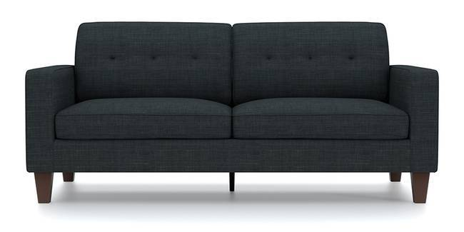 Optimus Sofa (Dark Grey, Fabric Sofa Material, Regular Sofa Size, Soft Cushion Type, Regular Sofa Type, Master Sofa Component, Yes Tufting, Tapered Wooden Leg Design, Wide Arm Arm Set)