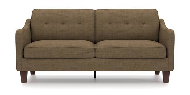 Optimus Sofa (Brown, Fabric Sofa Material, Regular Sofa Size, Soft Cushion Type, Regular Sofa Type, Master Sofa Component, Yes Tufting, Tapered Wooden Leg Design, Swept Arm Arm Set)