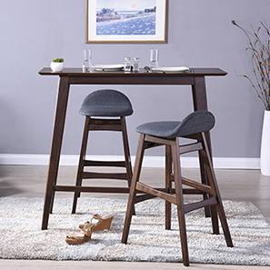 Beke Bar Stools - Set of 2 (Dark Walnut Finish)