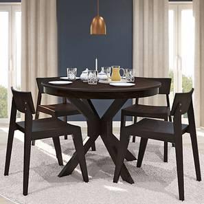 Liana 4 Seater Round Dining Table (Mahogany Finish)