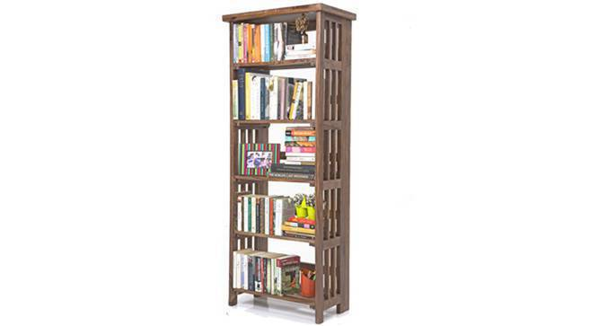 Rhodes Folding Book Shelf (Teak Finish, Tall Configuration) by Urban Ladder