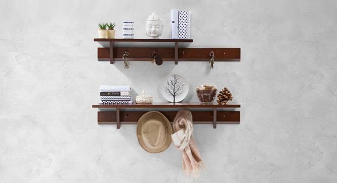Ibex Kitchen Wall Shelf Set (Dark Walnut Finish) by Urban Ladder