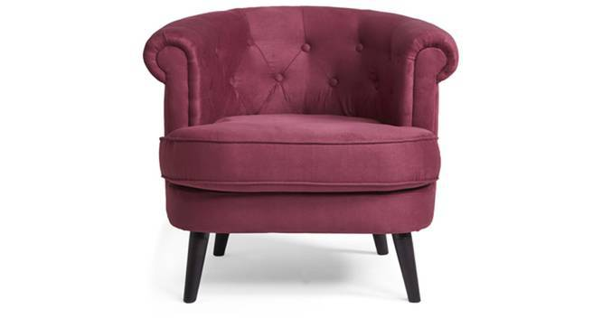 Bardot Lounge Chair (Wine Red) by Urban Ladder