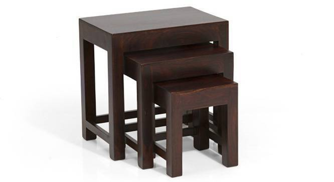 Stewart Nested Stools (Mahogany Finish) by Urban Ladder