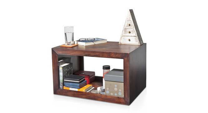 Euler's End Table (Mahogany Finish, No Wheels Configuration) by Urban Ladder