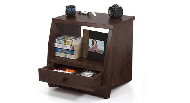 Siesta Bedside Table (Mahogany Finish) by Urban Ladder