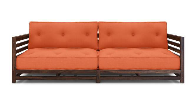 Raymond Low Wooden Sofa Standard Set 3-1-1 (Walnut Finish, Rust) by Urban Ladder