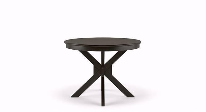 Liana - Oribi 4 Seater Round Dining Table Set (Mahogany Finish, Avocado Green) by Urban Ladder