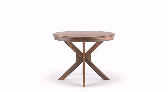 Liana - Oribi 4 Seater Round Dining Table Set (Teak Finish, Wheat Brown) by Urban Ladder