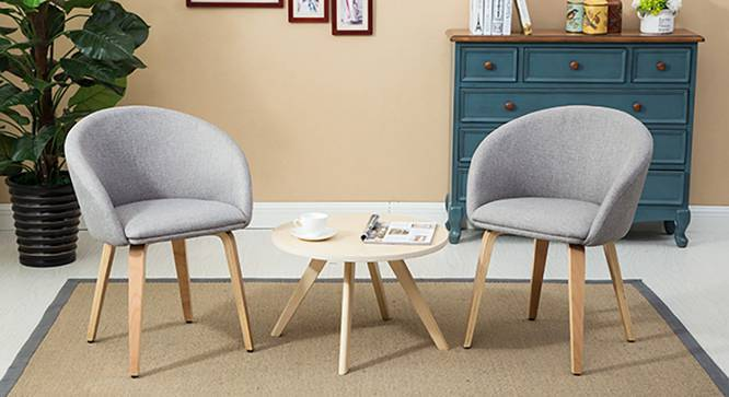 Meryl Lounge Chair - Set of 2 (Light Grey) by Urban Ladder