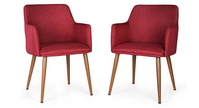 Murray Lounge Chair - Set of 2 (Red) by Urban Ladder