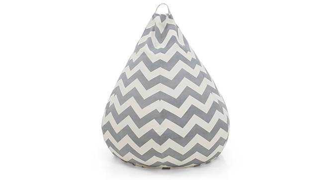 Baggo Canvas Beanbag (Large Size, With Beans Variant, Chevron Grey) by Urban Ladder