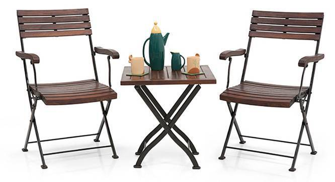 Masai Arm Chair Table Set (Teak Finish)