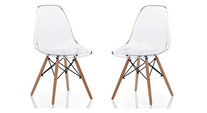 DSW Dining Chair Replicas -  Set of 2 (Clear) by Urban Ladder