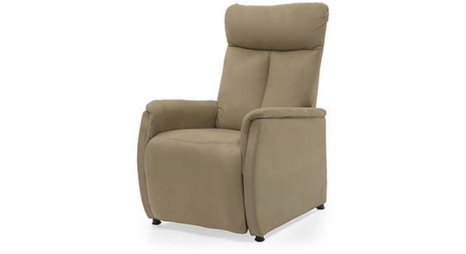 Bertie Compact Recliner (Camel Brown Fabric) by Urban Ladder
