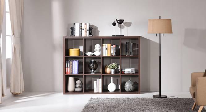 Boeberg Bookshelf (Dark Walnut Finish, 4 x 3 Configuration, Without Inserts) by Urban Ladder