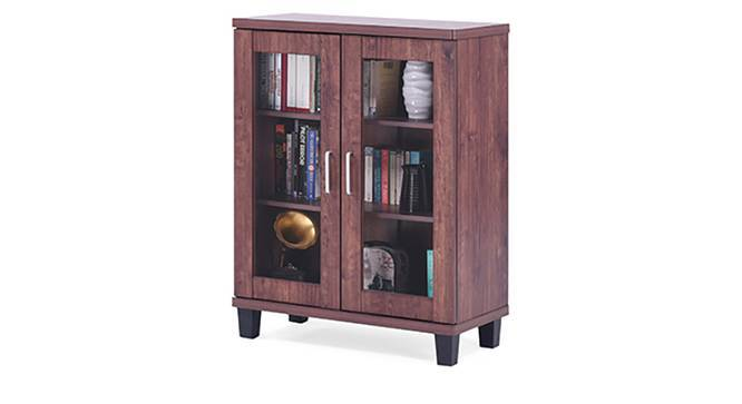 Portland Low Display Cabinet With 2 door (Walnut Finish) by Urban Ladder