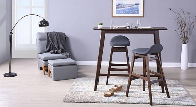 Beke Bar Stools - Set of 2 (Dark Walnut Finish) by Urban Ladder