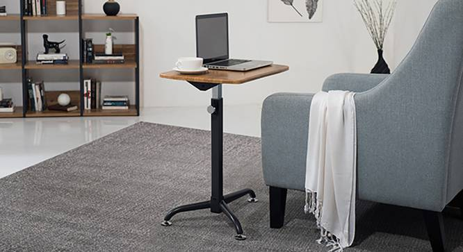 Orson Adjustable Laptop Table (Golden Oak Finish) by Urban Ladder