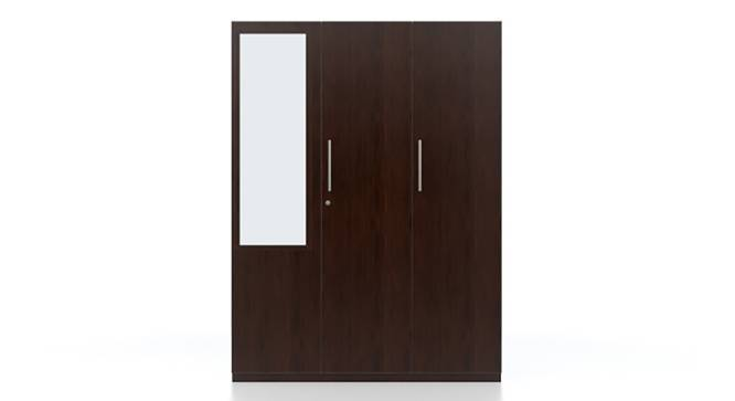 Domenico Wardrobe (Three Door, Yes Mirror, Without Drawer Configuration) by Urban Ladder