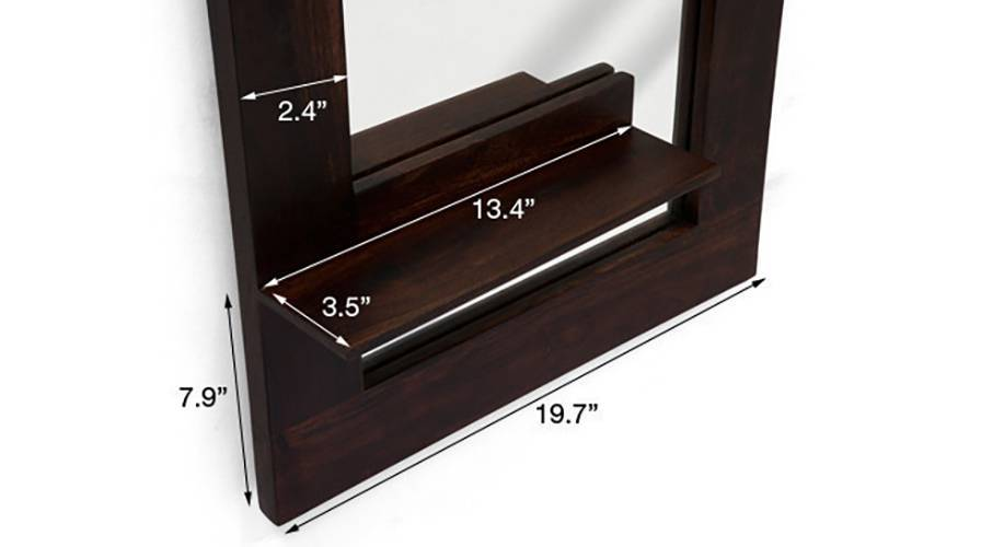 Damara mirror with shelves mahogany finish 08 img 0231 ed