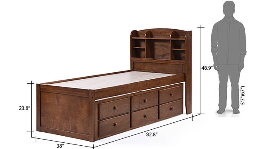 Ateneo bed with trundle and storage single 18 19