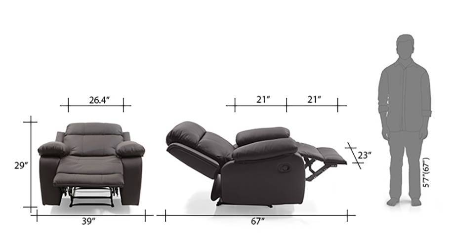 Robert recliner chocolate brown 10 11