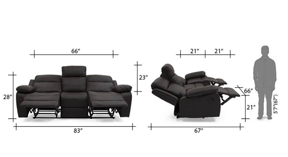 Robert recliner 3 seater chocolate brown 14 15
