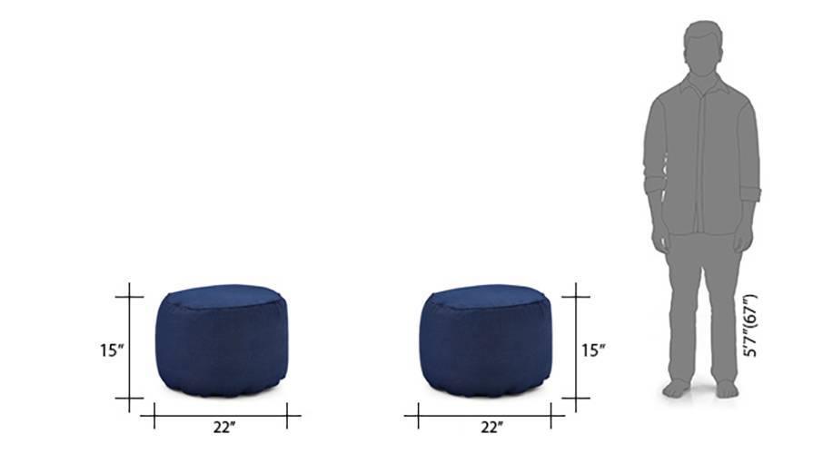 Baggo round denim pouffee 06