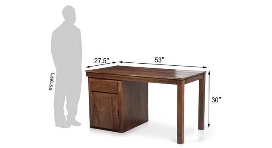 Bradbury desk teak finish 11 img 9999 76 t dimension